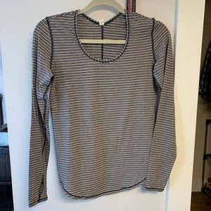 Lululemon long sleeved striped shirt